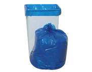 "Blue, Coreless Trash Bags & Can Liners, 13 Gallon, 24 x 33"", 1.1 Mil LLDP-0"