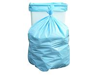 "Light Blue, Coreless Trash Bags & Can Liners, 13 Gallon, 24 x 33"", 1.1 Mil LLDP-0"