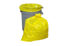 yellow trash cans yellow trash bags