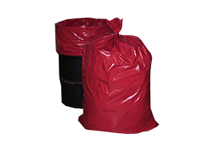 Red Trash Bags Can Liners 55 Gallon 36 X 56 2 Mil LLDP 100 Carton