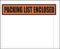 "Packing List Envelopes, 7 x 5.5"" Clear Face-0"