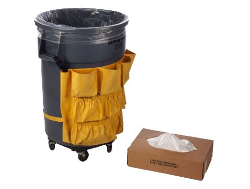 """40-45 Gallon 1.3 Mil Clear LLDPE Liners, 23"""" x 17"""" x 46""""-0"""