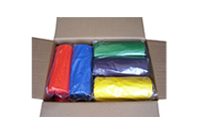 colored trash bags