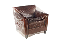 "Clear Furniture Bags 90"" Sofa, 124 x 45""-0"