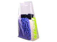 """1 mil Clear Gusseted Poly Bags, 10 x 8 x 24""""-0"""