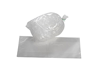 "2 Mil Heavy Duty Ice Bags, 6 x 3 x 18"" 5 LBS.-0"
