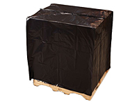 "3 mil Pallet Top Covers - Black with UVI/UVA, 51 x 49 x 73""-0"