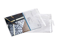 "Clear Postal Approved Lip & Tape Mailing Bags, 9 x 12""-0"