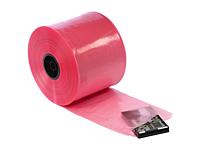 "4 mil Pink Antistatic Tubing, 8"" x 750'-0"