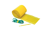 "Self Locking Adjustable Plastic Ties, 5"" Yellow-0"