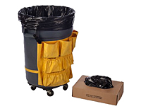 "33 Gallon 0.98 Mil Black LLDPE Liners, 20"" x 13"" x 39""-0"