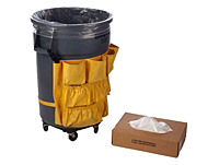 "33 Gallon 13 Micron Clear HDPE Liners, 33 x 40""-0"