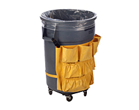 """56 Gallon 4 Mil Clear Glutton Low-Density Liners, 25 x 17 x 48""""-0"""