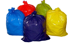 Coreless Colorful Trash Bags Can Liners